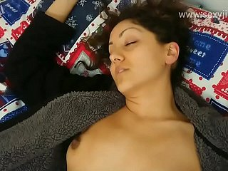 Young breast-feed drugged, molested, fucked and creampied off out of one's mind fellow-man for ages c in depth she sleeps POV Indian