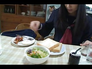 Japanese teen blowjob and use cum for table