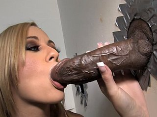 Mae Meyers Takes BBC - Gloryhole